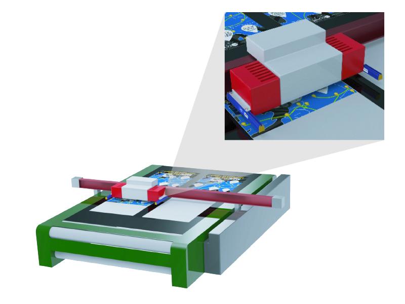 Ejemplo de uso de la barra VicinION en impresoras de cama plana